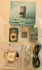 Canon PowerShot ELPH SD1200 IS 10.0MP Digital Camera (Gray) Complete Set