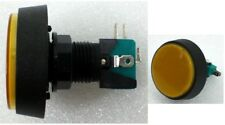 """2-3/8"""" 60MM Big Round YELLOW Push Button Switch With 12v Light Lamp Arcade NO/NC"""