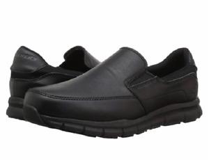 SKECHERS 77157W/BLK NAMPA GROTON Mn`s (W) Black/Black Synthetic Work Shoes