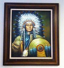 PERILLOFF? - Indian Chief Painting - Framed Original