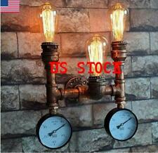 Us Vintage Water Meter Industrial Wall Lamp Loft light Edison Pipe Cafe Sconce