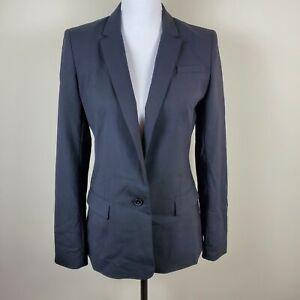 Banana Republic Lightweight Wool One Button Blazer Jacket Lined Women's Size 4