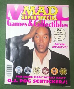 MAD Super Special July 1995Games and Collectibles OJ Simpsons Pogs vg