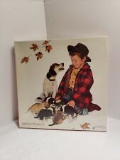 New Sealed Norman Rockwell A Boy and His Dog 550 pc. Puzzle