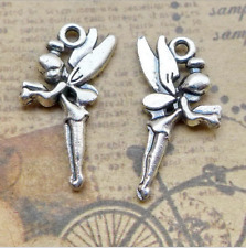 20pcs Antique Angel Fairy Tinkerbell Charm Pendant for Jewelry Making DIY Craft