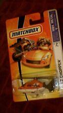 Matchbox (US Card) - 2006 - #70 LZ Chopper - Orange, White & Grey