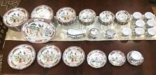 Hand Painted Oriental design  60pc China Set 7pc place setting- SERVICE FOR 8