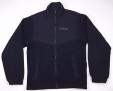 Columbia Small Fleece Jacket Mens Black Full Zip Interchange Size Sz Field Gear*