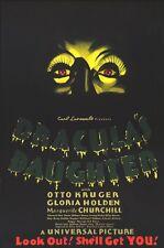 DRACULA'S DAUGHTER MOVIE POSTER ~ EYES 24x36 Carl Laemmle Gloria Holden