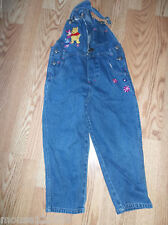 Winnie Pooh bibbed overalls size  6 blue denim overall jeans