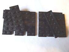 LEGO PART 3795 2 x 6 BLACK PLATE x 12
