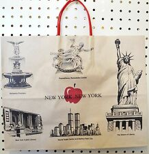 Vintage NEW YORK Paper Shopping Bag World TRADE Center Liberty Apple Rockefeller