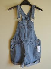 New! Gap women's shorts dungarees - XS UK 8 - pinafore overalls denim blue jeans