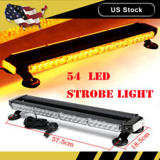 "26"" Amber 54 Led Emergency Warn Flash Strobe Light Bar Beacon Traffic advisor"