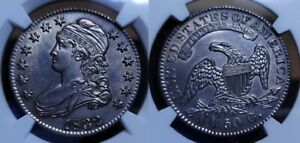 1832 Capped Bust Half Dollar 50c NGC UNC Details Cleaned
