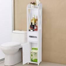Badezimmerschrank Badschrank Hochschrank Badmöbel Schrank Modern in Weiß Top
