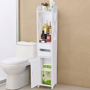 Meuble de salle de bain - blanc 80x15x15cm - Etagère machine à laver, Meuble WC
