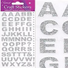 �LETTERS NUMBERS STICKERS Self Adhesive Glitter Diamante Alphabet Embellishment�