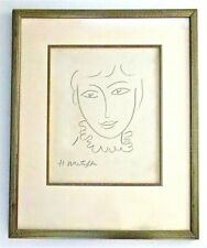 HENRI MATISSE -- AN ORIGINAL PENCIL DRAWING, LADY, SIGNED, FRAMED, PROVENANCE