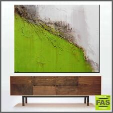 Original  Modern Abstract Textured Canvas Green Painting 150cm x 120cm - Franko