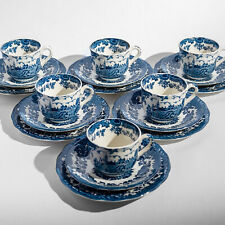 Royal Worcester Palissy Avon Scenes 6 Tea Cups, Saucers, Plates Trios