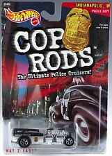 Hot Wheels Cop Rods Way 2 Fast Indianapolis, IN Police Cruiser 1/64 MOC 1999