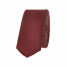 Classic Burgundy Skinny Tie