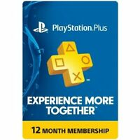 Sony PlayStation Plus 1 Year Membership, 12 Month PS4 Online Code E delivery USA