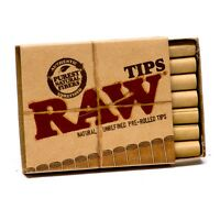 RAW Pre Rolled Perfect Filter Tips Roach - Natural Unrefined Pre Rolled Tips