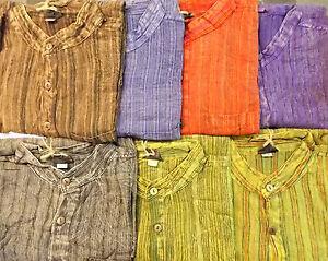 Fair Trade Multi Colour Men's Cotton Gringo Nepalese Hippy Stone Wash T2T3 Shirt