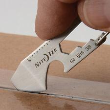 5 in 1 MULTI TOOL KEYRING BOTTLE OPENER SCREWDRIVER BOX CUTTER WRENCH CARABINER