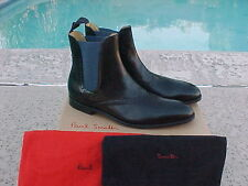 Paul Smith 'WOOD' Chelsea Boot Black w / Blue 8.5 EU