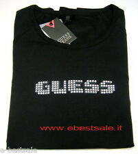 T-shirt Guess Vintage strass originale nera Tag S