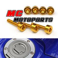Gold Honda Gas Fuel Cap Bolts Screws CBR 1100 XX GoldBird 1999-2003 00 01 02