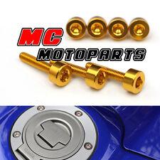 Gold Honda Gas Fuel Cap Bolts Screws Kit CBR900 98 99 CBR 929 954 RR 2000-2003