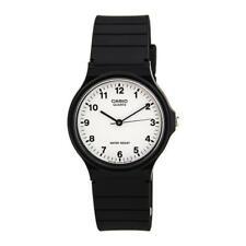 Casio Mens Ladies Casual Style Dial blanco reloj de pulsera negro MQ24-7BLL