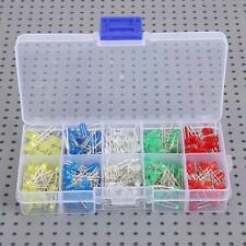 300pcs 3/5mm Round Red Green Blue Yellow White Water Clear LED Diodes Light Kit