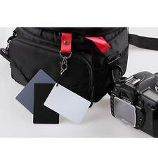 3 in 1 Pocket-Size Digital White Black Grey Balance Cards 18% Gray Card ZPBU