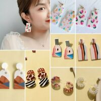 Women's Acrylic Geometric Oval Round Earrings Drop Dangle Jewelry Gifts Fashion