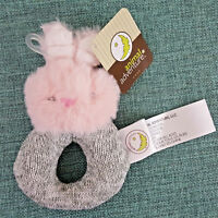 Animal Adventure Bunny Rabbit Rattle Ring Plush Baby Lovey Toy