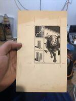 Vintage Newspaper Art Baltimore Sun Bull Market Financial 1980s Rare