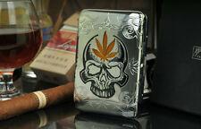 Pocket Cigarette Tobacco cigar Metal copper alloy Storage Case Box Holder thin