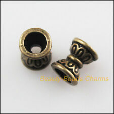 50Pcs Antiqued Bronze Tone Flower Cone Spacer Beads Charms 6.5mm