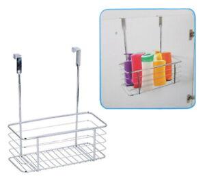 Over Door Shower Caddy Hanging Basket Organiser Toilet Bathroom Storage Chrome