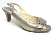 COLE HAAN Gold Size 7 Slingback Heels Pumps or Shoes