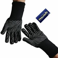 Oven Gloves - Grill BBQ Barbecue Cooking Gloves Extra Long Cuff - 1 Pair