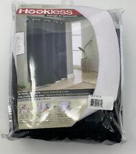 Hookless Waffle 71 Inch x 74 Inch Luxury Fabric Shower Curtain in Black