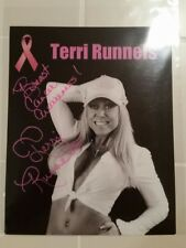Terri Runnels Autographed WWE WWF Superstar 8x10 photo  Breast Cancer ribbon BCA