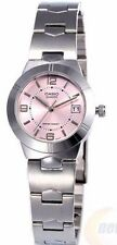 Casio LTP1241D-4A Ladies Stainless Steel Round Quartz Dress Watch Pink Dial