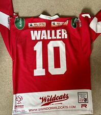 New listing Swindon Wildcats Ice Hockey Jersey 2008/2009 Sam Waller 10 Signed
